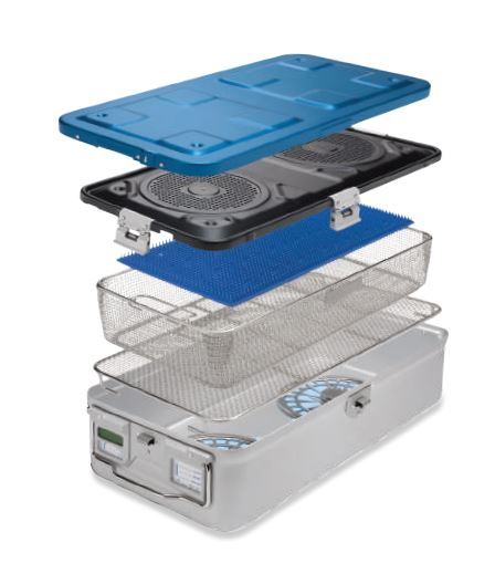 Quadlock Sterilisation Containers